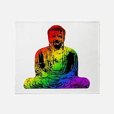 Rainbow Buddha Throw Blanket