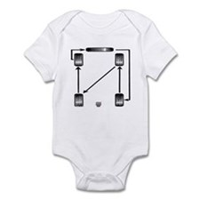 Rotate Wheels Infant Bodysuit