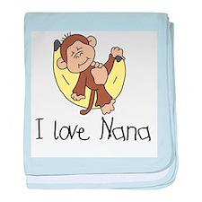 Monkey I Love Nana baby blanket