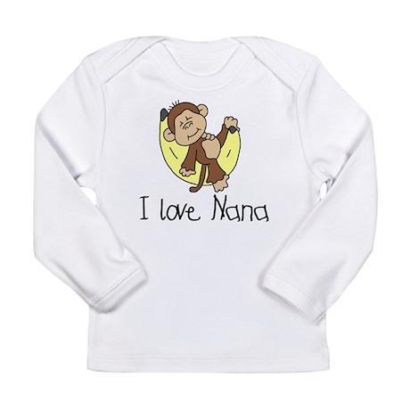 Monkey I Love Nana Long Sleeve Infant T-Shirt