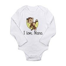 Monkey I Love Nana Long Sleeve Infant Bodysuit