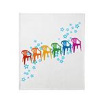 Rainbow Patio Chairs Throw Blanket