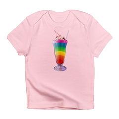 Rainbow Stripe Milkshake Infant T-Shirt