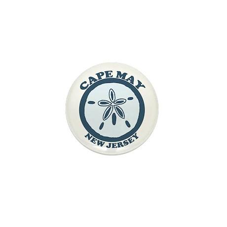 Cape May NJ - Sand Dollar Design Mini Button