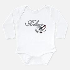 BELIEVE (SILVER BELL) Long Sleeve Infant Bodysuit