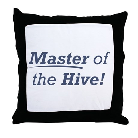 Master of the Hive Throw Pillow
