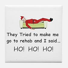 Funny Christmas Tile Coaster