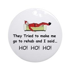 Funny Christmas Ornament (Round)
