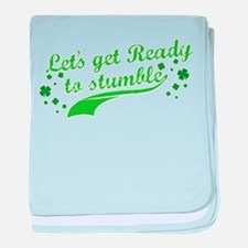 Let's get Ready to Stumble baby blanket