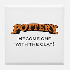 Pottery / Clay Tile Coaster