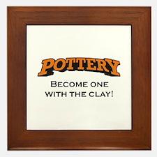 Pottery / Clay Framed Tile