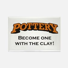 Pottery / Clay Rectangle Magnet