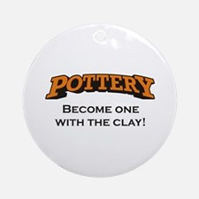 Pottery / Clay Ornament (Round)
