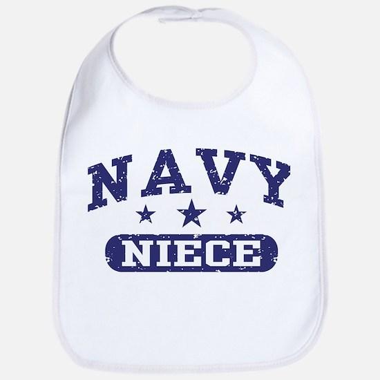 Navy Niece Bib