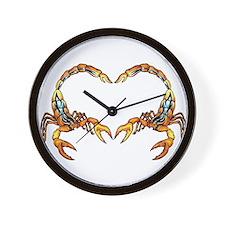 Scorpion Logo Wall Clock