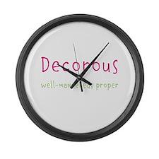 Decorous Large Wall Clock