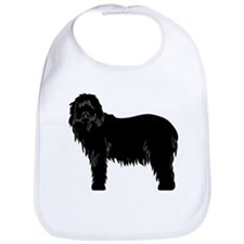 Bearded Collie Silhouette Bib