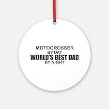 World's Greatest Dad - Mottocross Ornament (Round)