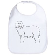 Cute I heart my bearded collie Bib
