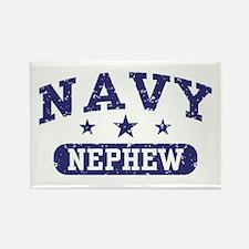Navy Nephew Rectangle Magnet