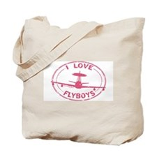 I Love Flyboys E-3 pink Tote Bag