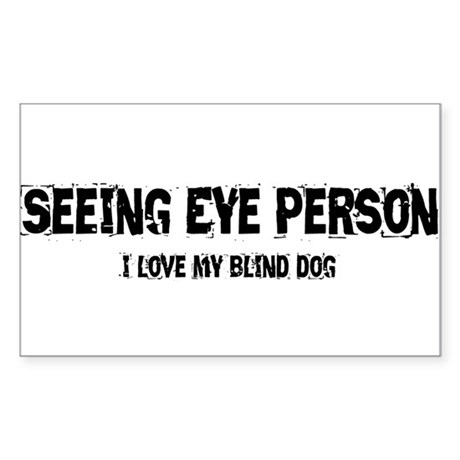 Seeing Eye Person Sticker (Rectangle)