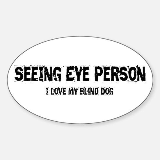 Seeing Eye Person Sticker (Oval)