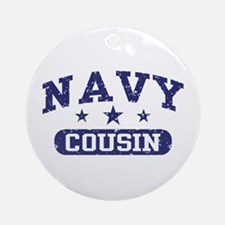 Navy Cousin Ornament (Round)