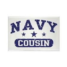 Navy Cousin Rectangle Magnet
