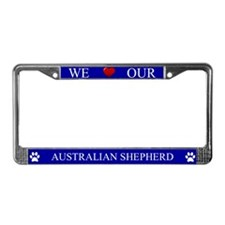 Blue We Love Our Australian Shepherd Frame