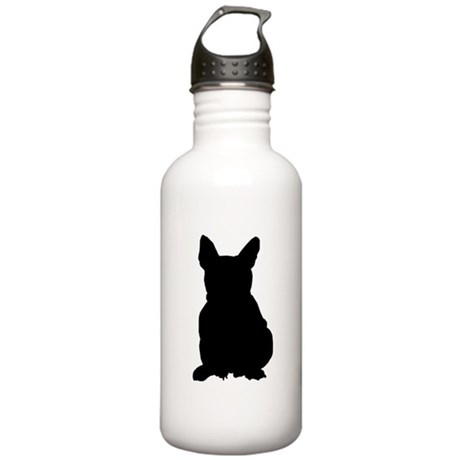 French Bulldog Silhouette Stainless Water Bottle 1