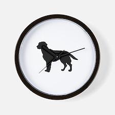 Labrador Retriever Silhouette Wall Clock