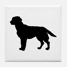 Labrador Retriever Silhouette Tile Coaster