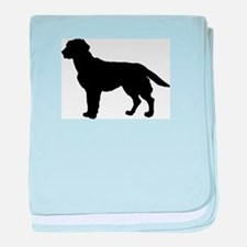 Labrador Retriever Silhouette baby blanket