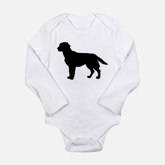 Labrador Retriever Silhouette Long Sleeve Infant B