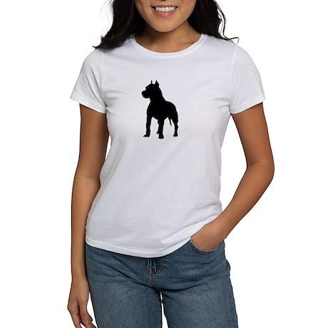 Pit Bull Terrier Silhouette Women's T-Shirt