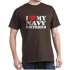 I Love My Navy Boyfriend T-Shirt