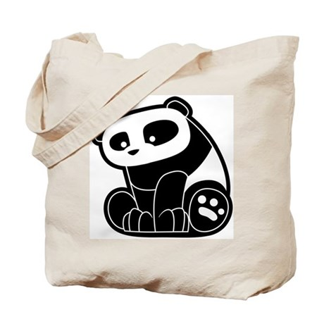Cute Panda Tote Bag
