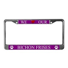 Purple We Love Our Bichon Frises Frame