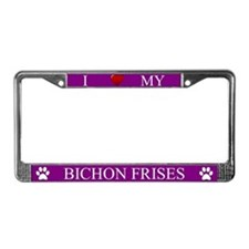 Purple I Love My Bichon Frises Frame