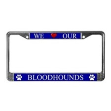 Blue We Love Our Bloodhounds Frame