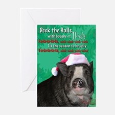 deck-the-halls Greeting Cards