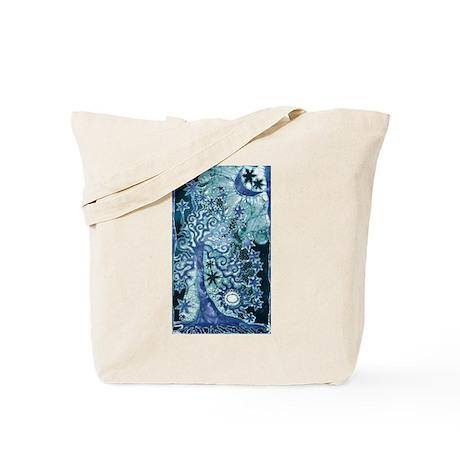 Tree and Stars Tote Bag