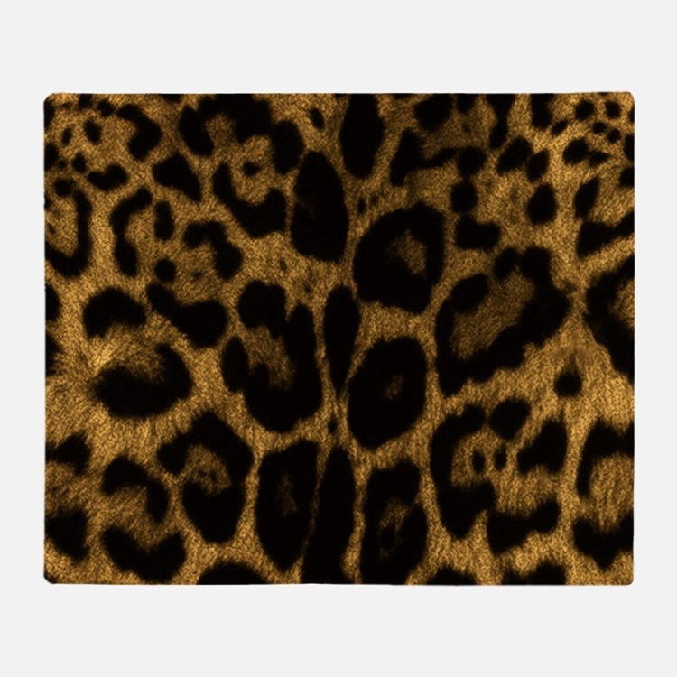 Jaguar Print Throw Blankets Jaguar Print Fleece Blankets