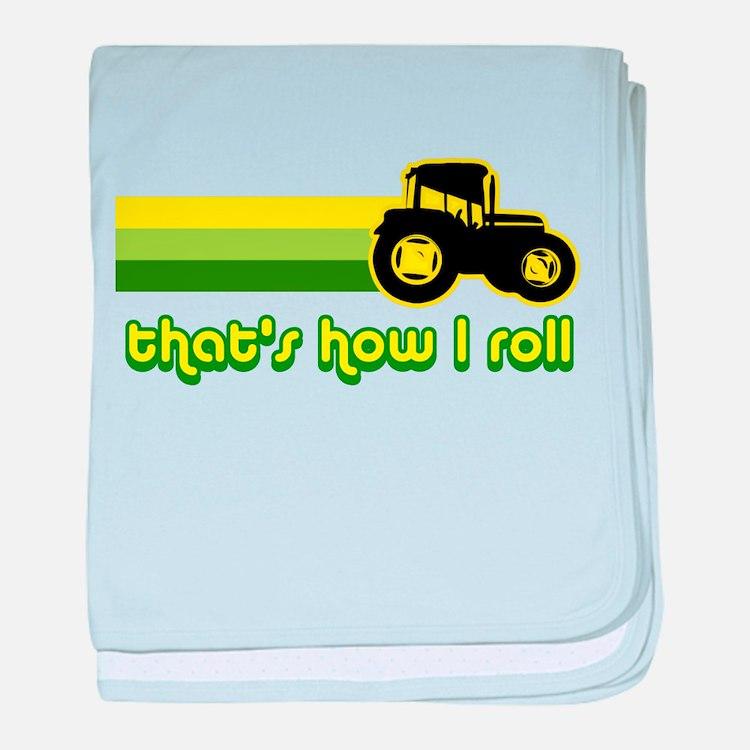 Tractor Rollin' baby blanket