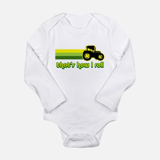 Tractor Rollin' Long Sleeve Infant Bodysuit