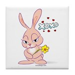 Love Bunny Tile Coaster