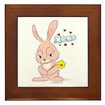 Love Bunny Framed Tile Picture