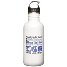 Esophageal Cancer Tribute Water Bottle