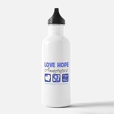 Esophageal Cancer LoveHope Water Bottle